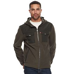 Big & Tall Levi's® Fleece Mixed Media Hooded Jacket