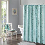 Intelligent Design Khloe Metallic Print Shower Curtain
