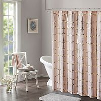 Intelligent Design Khloe Metallic Print Shower Curtain