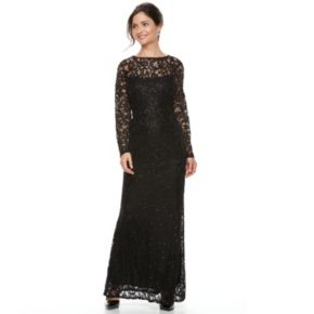 Women's Helene Blake Sequin Lace Evening Dress