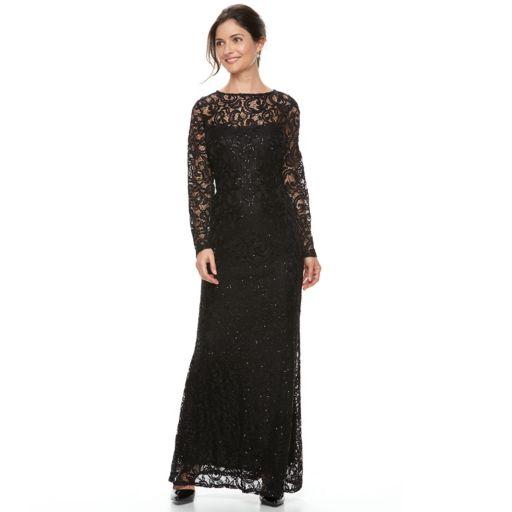 Women's Helene Blake Sequin Lace Evening Dress
