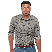Big & Tall Croft & Barrow® Regular-Fit Stretch Outdoor Button-Down Shirt