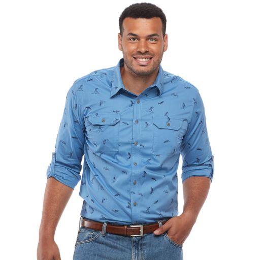 Big & Tall Croft & Barrow® Regular-Fit Stretch Outdoor Button-Down Shirt