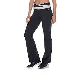 d19db8d47c47 Women's FILA SPORT® Performance Contrast Waist Pants. Black White Charcoal