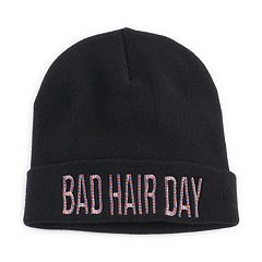 Women's Mudd® Embroidered 'Bad Hair Day' Beanie