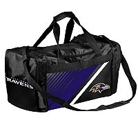 Forever Collectibles Baltimore Ravens Striped Duffle Bag