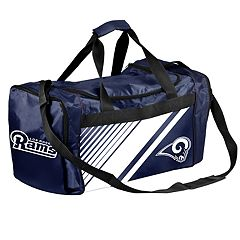 Forever Collectibles Los Angeles Rams Striped Duffle Bag
