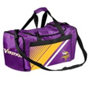 Forever Collectibles Minnesota Vikings Striped Duffle Bag
