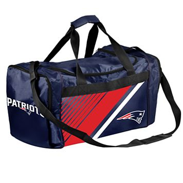 Forever Collectibles New EnglandPatriots Striped Duffle Bag
