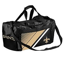 Forever Collectibles New Orleans Saints Striped Duffle Bag