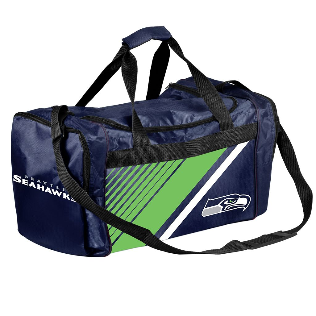 Forever Collectibles Seattle Seahawks Striped Duffle Bag