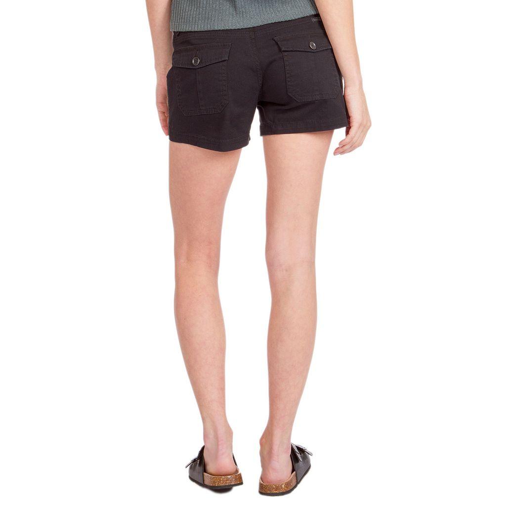 Juniors' Unionbay Stretch Twill Shortie Shorts