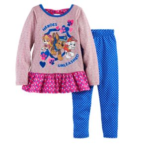 Girls 4-6x Paw Patrol Skye, Chase & Marshall Top & Leggings Set