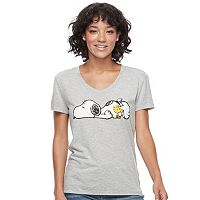Juniors' Peanuts Snoopy Sleepy Graphic Tee