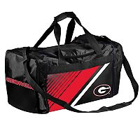 Forever Collectibles Georgia Bulldogs Striped Duffle Bag