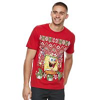 Men's SpongeBob SquarePants Ugly Christmas Sweater Tee