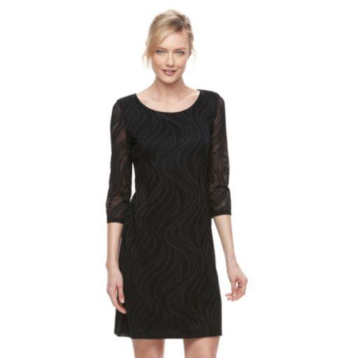 Petite Dana Buchman Lace Shift Dress