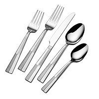 Pfaltzgraff Everyday Arabesque Frost 45-pc. Flatware Set with Caddy