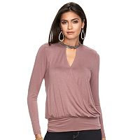 Women's Jennifer Lopez Embellished Keyhole Top