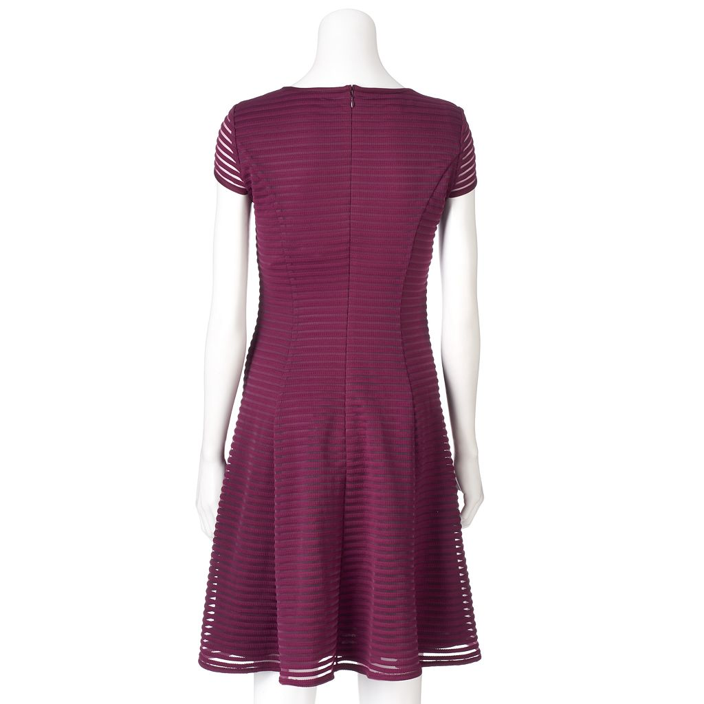 Women's Suite 7 Shadow Stripe Fit & Flare Dress
