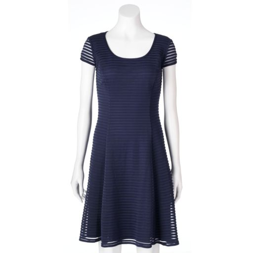 Women's Suite 7 Shadow Stripe Fit & Flare Dress