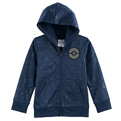 Boys 4-7 Pokemon Applique Patch Zip Hoodie