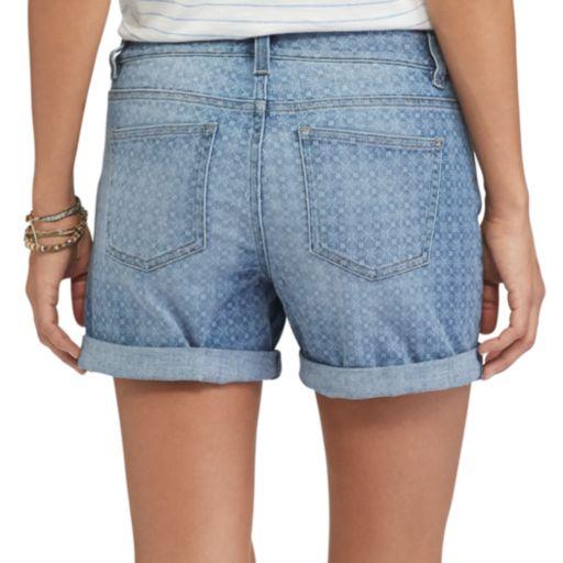 Women's Chaps Cuffed Jean Shorts