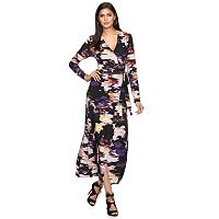 Women's Jennifer Lopez Print Faux-Wrap Dress