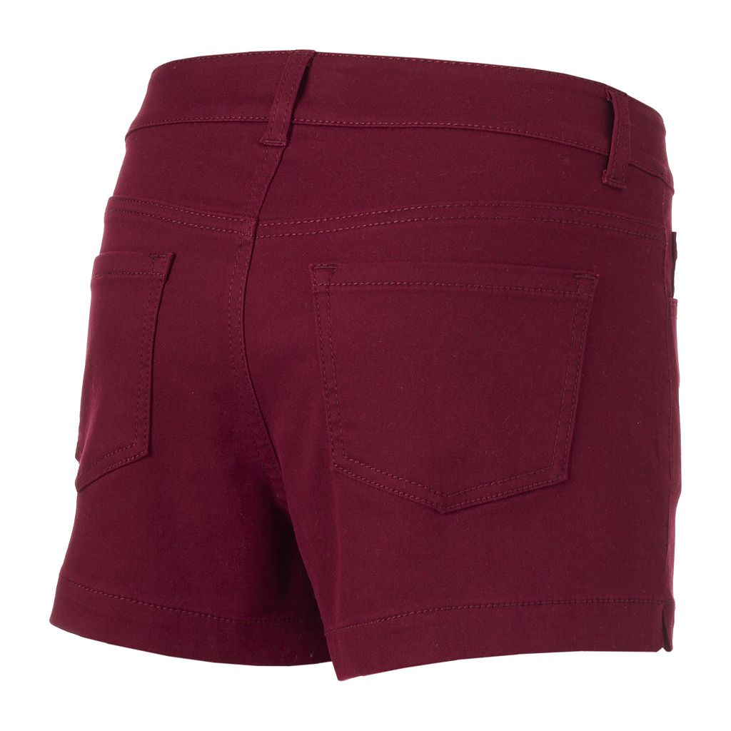 Juniors' SO® High Waisted Color Shortie Shorts