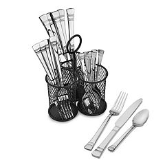 Pfaltzgraff Everyday Kensington 18-pc. Flatware Set with Caddy