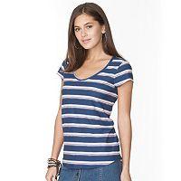Women's Chaps Striped V-Neck Tee