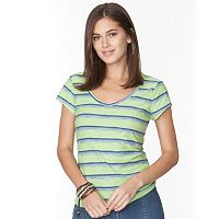 Women's Chaps Striped V-Neck Tee