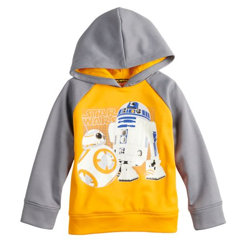 Jumping Beans Star Wars Toddler Boy R2D2 & BB8 Raglan Hoodie