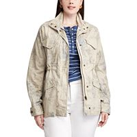 Plus Size Chaps Floral Canvas Anorak Jacket