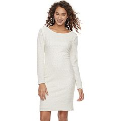Petite Jennifer Lopez Boucle Dress