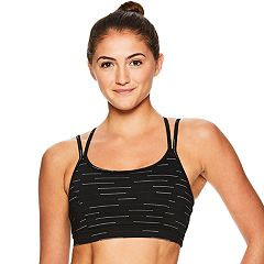 Gaiam Bras: Striped Yoga Medium-Impact Sports Bra GKW181BR04