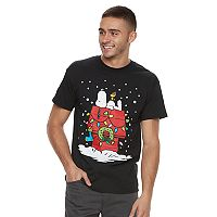 Men's Peanuts Snoopy Christmas Tee