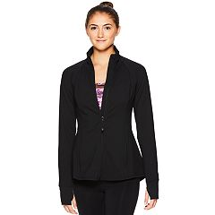 Women's Gaiam Energy Thumb Hole Yoga Jacket