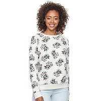 Disney's Mickey & Minnie Juniors' Printed Sweatshirt by Mighty Fine