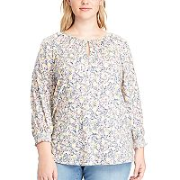 Plus Size Chaps Floral Jersey Top