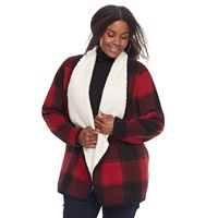 Plus Size SONOMA Goods for Life™ Sherpa Cardigan