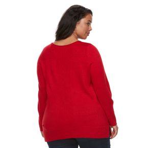 Plus Size Apt. 9® Lurex Crewneck Sweater