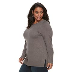 Plus Size Apt. 9® Lurex Crewneck Sweater