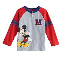 Disney's Mickey Mouse Toddler Boy Raglan Henley