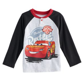 Disney / Pixar Cars Toddler Boy Lightning McQueen Raglan Henley