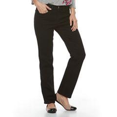 Women's Croft & Barrow® Straight-Fit 5-Pocket Jeans