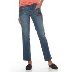 Women's Croft & Barrow® Straight-Fit 5-Pocket Jeans