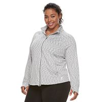 Plus Size FILA SPORT® Knit Thumb Hole Jacket