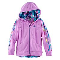 Toddler Girl adidas Hooded Tricot Lightweight Jacket