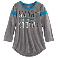 Girls 7-16 & Plus Size SO® 3/4-Sleeve Football Tee